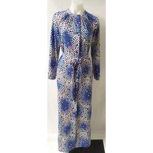 Blue/Pink Vintage Maxi Dress L